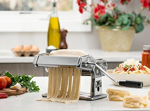 Gourmia – Pasta Maker, Roller and - Manual – Dough Spaghetti and Stainless Steel and Chrome 150mm