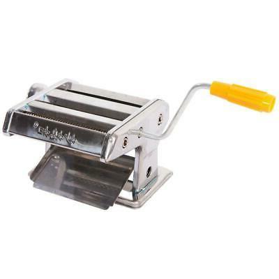 hand cranking 6 pasta maker roller machine
