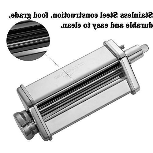 Kitchen Pasta Roller Attachment for Kitchenaid Steel,mixer