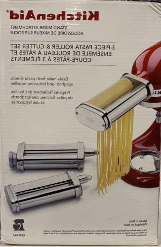 ksmpra 3 piece pasta roller cutter attachment