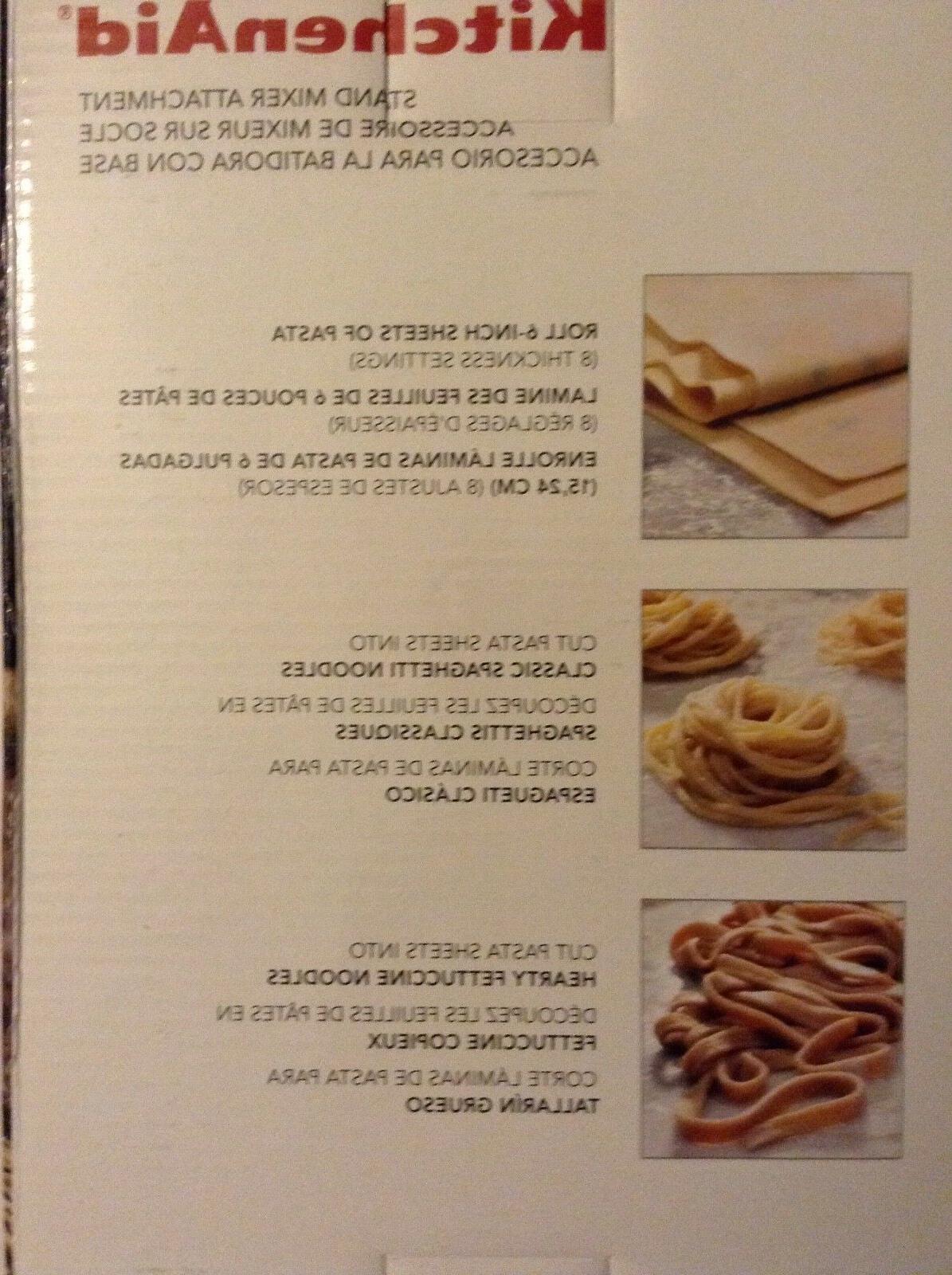 new kitchenaid ksmpra 3-piece pasta roller