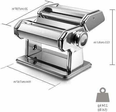 Pasta Machine, iSiLER 150 Roller Pasta Maker, 9 Adjustable T