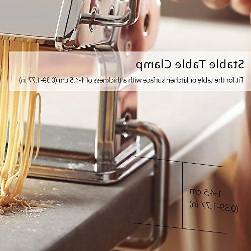 Pasta Machine, 9 Maker, 150 Roller Maker Aluminum Alloy Rollers and FDA for Pasta, Spaghetti, Lasagna