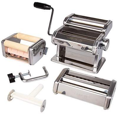 pasta maker deluxe set machine w attachments