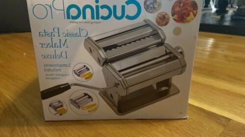 pasta maker deluxe set with attachments silver