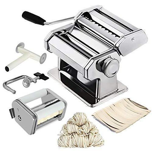 CHEFLY Ravioli Maker Set All 9 Thickness Fresh Spaghetti Lasagne Dough Cutter Noodle Making Machine P1802