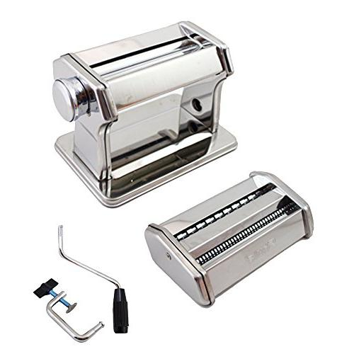 Pasta Maker – Stainless Pasta Machine Includes Pasta Cutter, and Detailed
