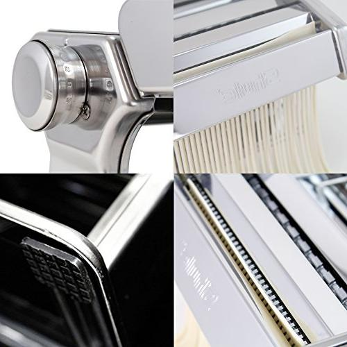 Pasta Maker By – Stainless Steel Machine Includes Pasta Hand and