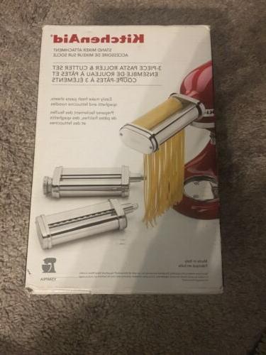 pasta roller and fettuccini spaghetti cutter attachments
