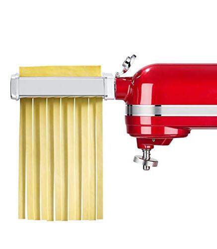 3 Piece with KitchenAid Included Pasta Spaghetti Cutter, Maker and
