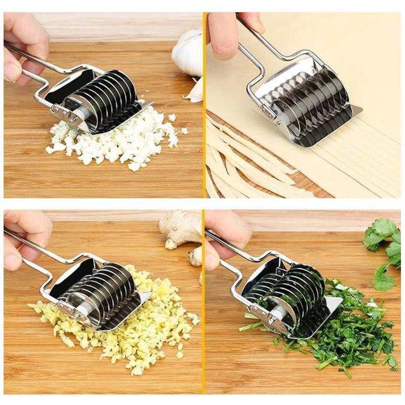Stainless Steel <font><b>Pasta</b></font> <font><b>Machine</b></font> Multifunction Ginger Garlic