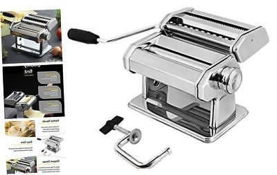 stainless steel manual pasta maker machine