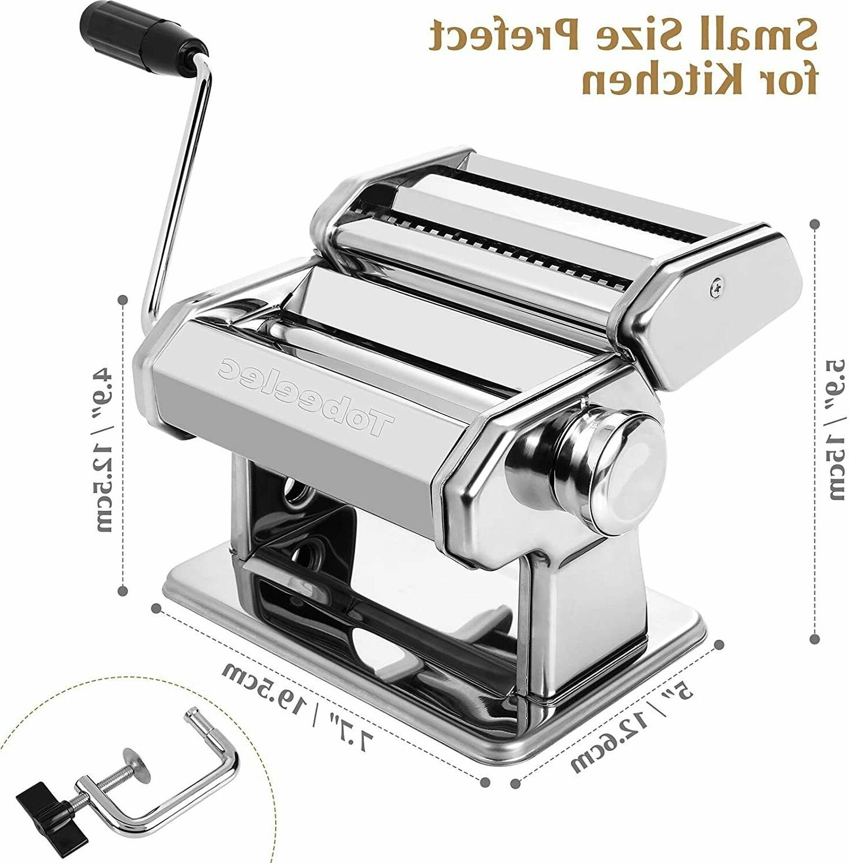Stainless Steel Pasta Machine Lasagna Spaghetti Ravioli Maker Roller