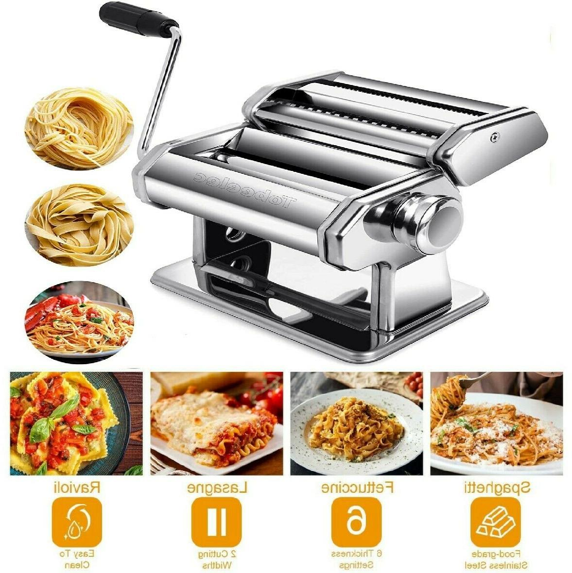 stainless steel pasta machine lasagna spaghetti tagliatelle