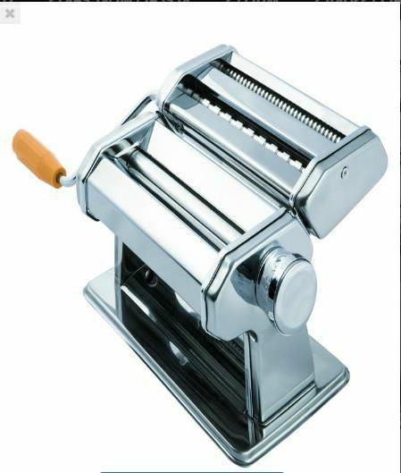 stainless steel pasta maker machine silver