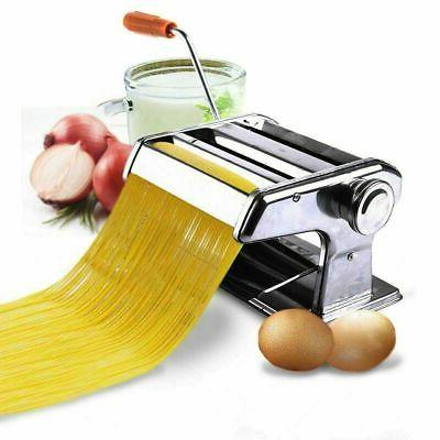 Steel Pasta Maker Noodle Making Dough Roller with Handle HOT