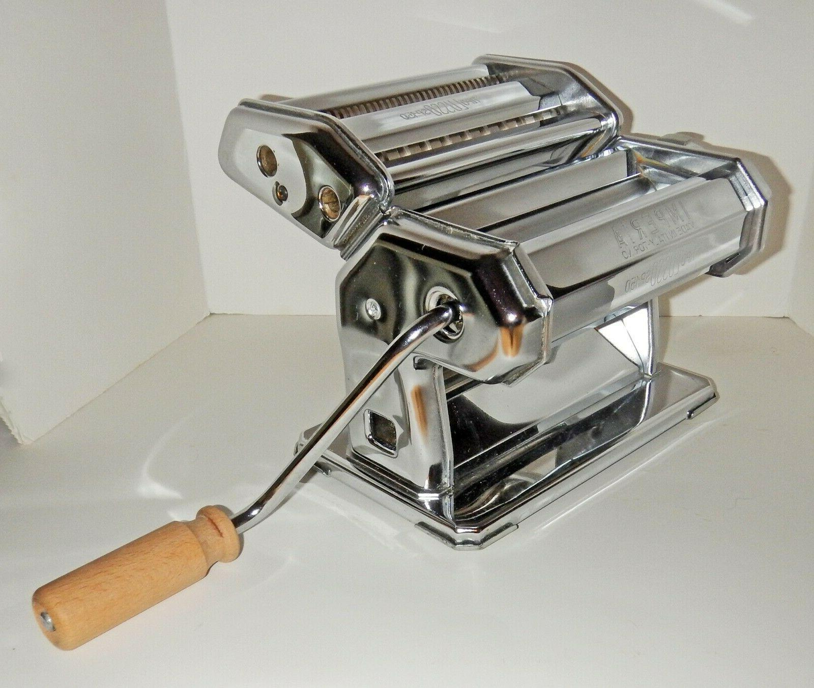 Vtg IMPERIA TIPO LUSSO SP-150 Stainless Steel PASTA MAKER No