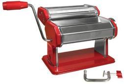 Weston Manual Pasta Machine, 6-Inch, Red by Weston