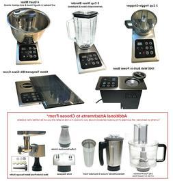 BUILT-IN Kitchen Appliance w/Multi Attachments: 4 Qt Mixer,