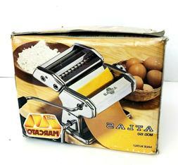 NEW Marcato Atlas Wellness 150 Hand Crank Pasta Maker Stainl