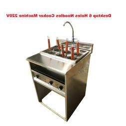 New Desktop 6 Holes Noodles Cooker Machine 220V 6KW Small Ki