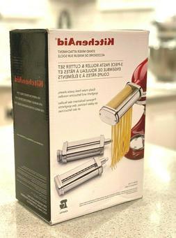New Kitchen Aid ksmpra 3-piece Pasta Roller & Cutter Set Sta