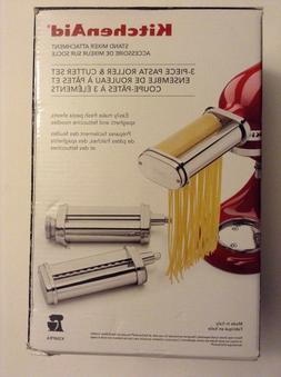 new kitchenaid ksmpra 3-piece pasta roller and cutter set st