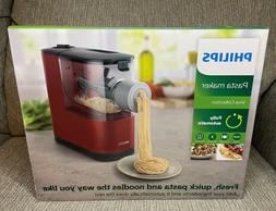 NEW Philips Viva Collection Red Pasta Maker w/ Attachments &