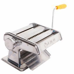 US Portable Home Manual Pasta Make Roller Machine Dough Fres