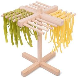 CucinaPro Pasta Drying Rack Crafted from All Natural Wood- F