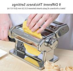 Pasta Machine, iSiLER 9 Adjustable Thickness Settings Pasta