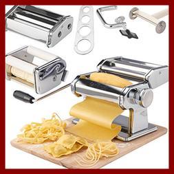 Vonshef Pasta Maker 3 In 1 Machine Stainless Steel Roller W