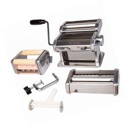 Pasta Maker Deluxe Set- Machine w Attachments for 5 Authenti