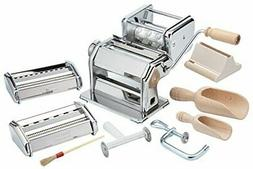 Imperia Pasta Maker Machine- Deluxe 11 Piece Set w Machine,