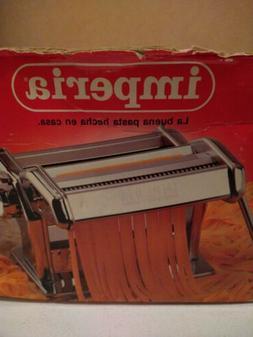 Imperia Pasta Maker Machine - Heavy Duty Stainless Steel w/