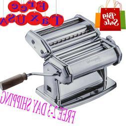 Pasta Maker Machine - Heavy Duty Steel Construction w Easy L