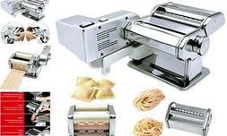Pasta Maker Machine Includes Motor Hand Crank and Multifunct