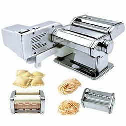 Shule Pasta Maker Machine Includes Motor Hand Crank and Mult