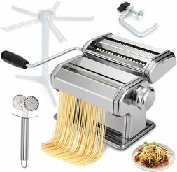 Pasta Maker Machine Manual Hand Crank, Noodle Makers with 9