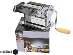 """6"""" Pasta Maker Machine Spaghetti Fettuccine Lasagna Healthy"""