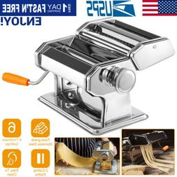 Fresh Pasta Roller Machine Noodle Maker Stainless Steel Cutt