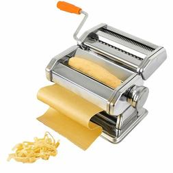 Pasta Maker, Stainless Steel Pasta Machine with 6 Thickness