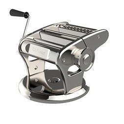 bonVIVO Pasta Mia, Stainless Steel Pasta Maker Machine With