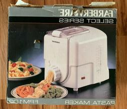Farberware Pasta Pro Model No. FPM100 Electric Pasta Maker *