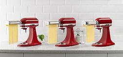 KitchenAid RKSMPRA 3-Piece Pasta Roller & Cutter Attachment