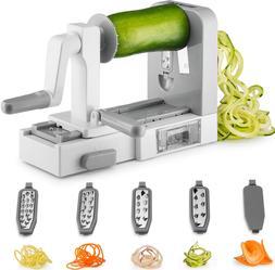 Spiralizer 5-Blade Vegetable Slicer Noodle Maker and Veggie