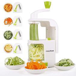 Spiralizer, Sedhoom 4-blade Vegetable Spiralizer, Zucchini N