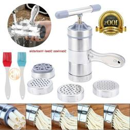 Stainless Steel Fresh Pasta Noodle Maker Press Spaghetti Kit