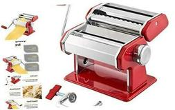 Stainless Steel Manual Pasta Maker Machine | With Adjustable