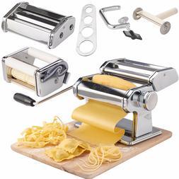 VonShef 3in1 Stainless Steel Pasta Maker- 3 Cut Press Blade